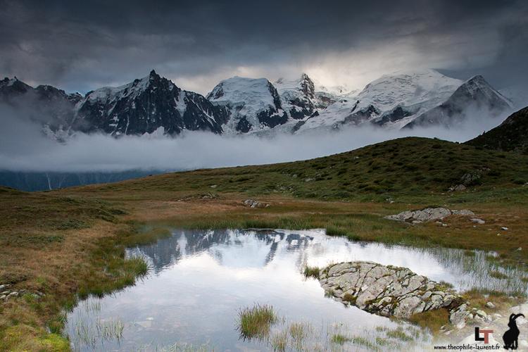 Massif du Mont Blanc depuis la Réserve Naturelle de Carlaveyron