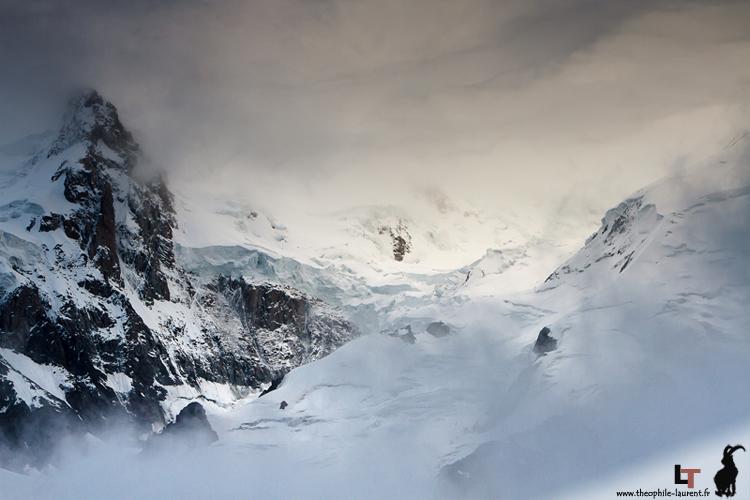 Pointe Durier et face nord-est du Mont Maudit