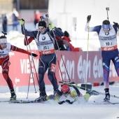 Biathlon - Grand Bornand - Chute